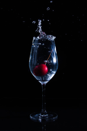 Fruit in a glass of water photo