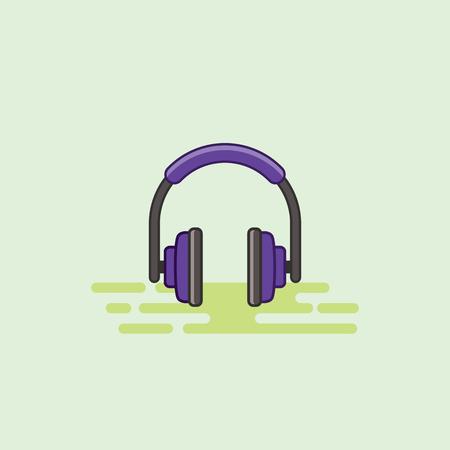 イヤホン音楽機器アイコン ベクトル図 写真素材 - 72959338
