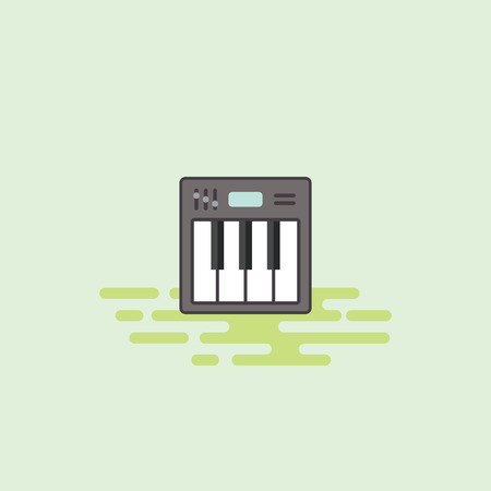 キーボード楽器アイコン イラスト。 写真素材 - 72995947
