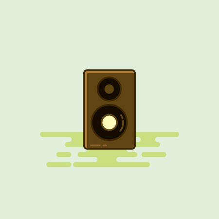 Loud speaker musical equipment icon illustration. Çizim