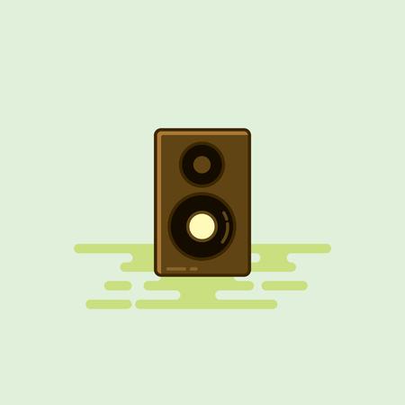 Loud speaker musical equipment icon illustration. Illustration