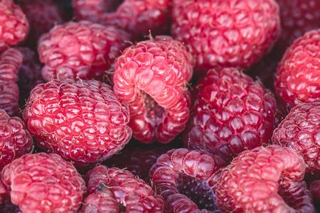 super fruit: Organic rasberries, juicy organic natural healthy and nutritional sweet super fruit.