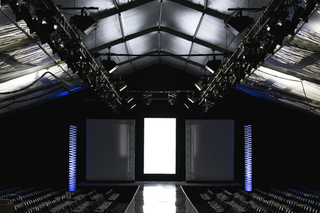 Empty fashion week runway catwalk-stage Stock Photo