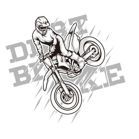 freestyle motocriss dirtbike illustration for poster or tshirt use