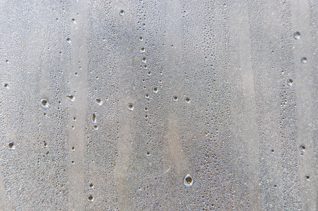 Water droplets condensation background of dew on glass, humidity and foggy blank. Outside , bad weather, rain Stock Photo