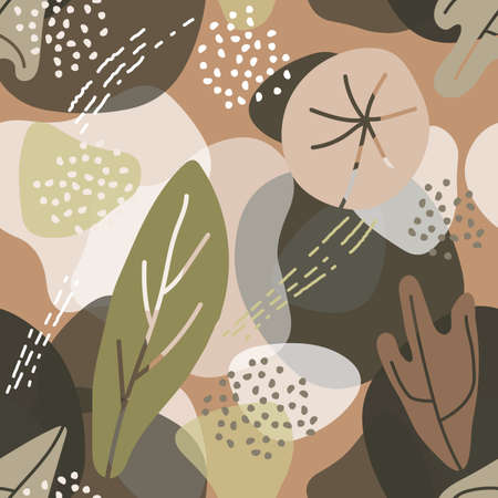 Abstract trendy floral element memphis style. Abstract eco background.
