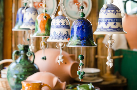 ceramic: Ceramic bells Stock Photo