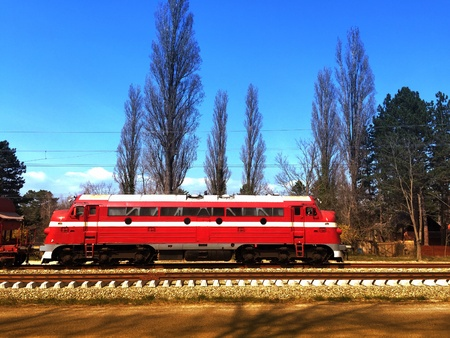 Old Swedish licenced diesel locomotive, formely used by Hungarian State Railways