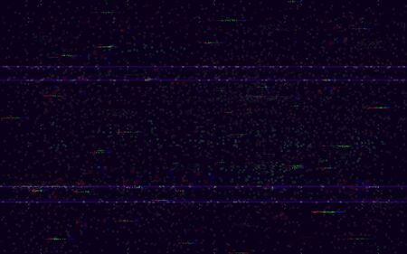 Glitch no signal. Minimal VHS backdrop. Video problem template. Pixel noise and color digital distortions. Video game glitch. HDTV error. Vector illustration. Illustration