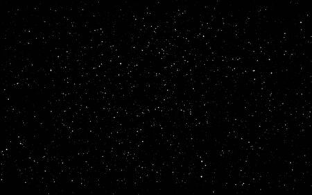 Space background. Dark infinite universe with shining stars and constellations. Starry cosmos. Realistic stardust wallpaper. Black night sky and milky way. Vector illustration.