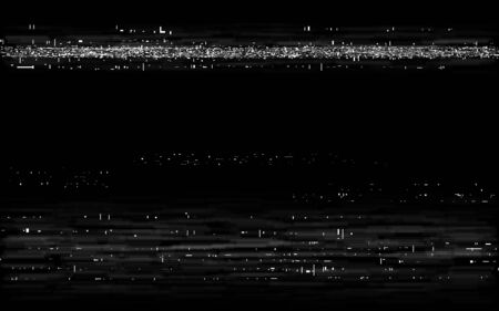 Glitch VHS backdrop. Retro rewind effect. Old tape effect with white horizontal lines. Analog playback template. Video cassette distortion. Vector illustration.