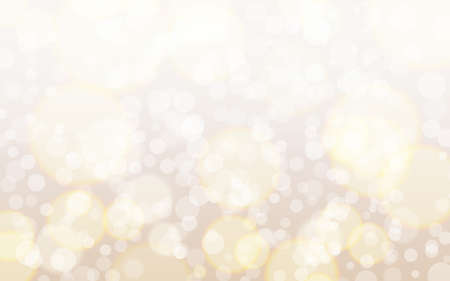 Bokeh background. Smooth circles and bubbles. Soft gradient with light elements. Glowing texture with sparkles. Blurred backdrop and glamour effect. Vector illustration