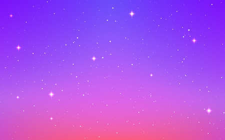 Space background. Color cosmos with stardust. Magic starry galaxy. Infinite universe with milky way. Cosmic texture with shining stars. Bright cosmos design. Vector illustration Çizim