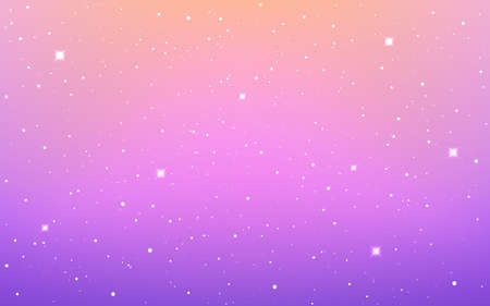 Space background. Color cosmos texture. Violet starry cosmos. Colorful milky way. Cosmic poster with stardust. Magic shining stars. Vector illustration