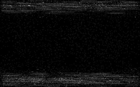 Glitch VHS frame. Retro rewind effect. Old video play with horizontal lines. Video cassette visualization. Glitched analog playback. Vector illustration