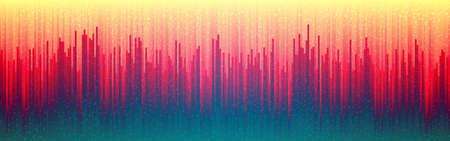 Glitch digital background. Retro future distortion. Abstract vertical lines. Cyber futuristic design. Color glitched lines. Vector illustration
