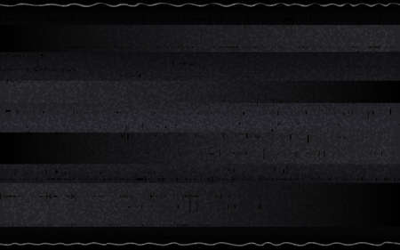 Glitch retro VHS backdrop. Abstract horizontal noise with glitched lines. Analog tape distortions on dark background. No signal effect. Old video recorder pause. Vector illustration