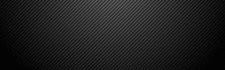 Carbon background wide. Realistic fiber texture. Dark futuristic backdrop with shadow. Metal cells design. Black composite material. Modern technology wallpaper. Vector illustration 矢量图像