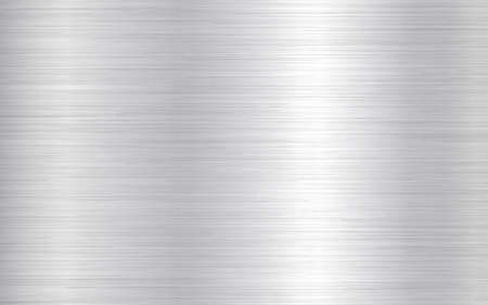 Metal background. Silver steel texture. Brushed stainless sheet. Bright polish plate with reflection. Realistic industrial texture. Aluminum panel. Vector illustration 矢量图像