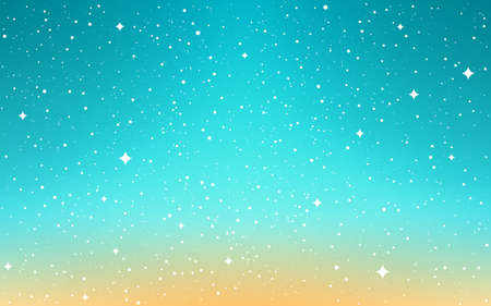 Space background. Cartoon cosmos. Color sky with shining stars. Bright cosmos with milky way. Aurora with stardust. Shiny galaxy. Vector illustration.