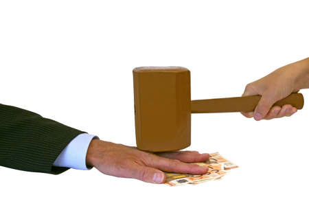 consequence: Stop the greed with consequence Stock Photo