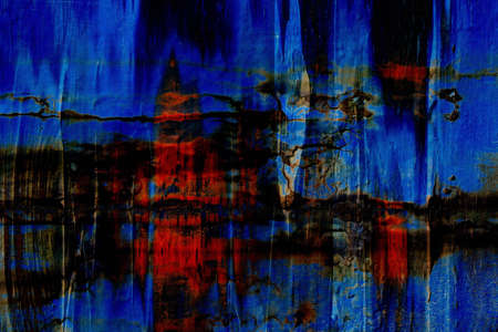 predominantly: an abstract design in red blue and black Flche with predominantly vertical Linienfhrung Stock Photo