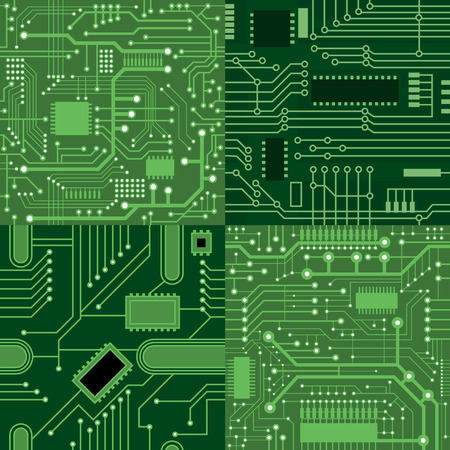 component parts: Set of textures computer board