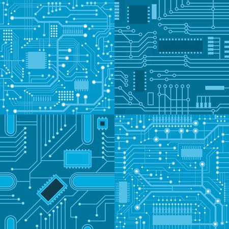 electronics parts: Set of textures computer board