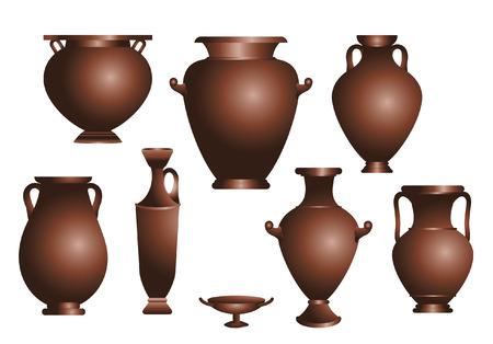 roma antigua: vector conjunto de ánforas