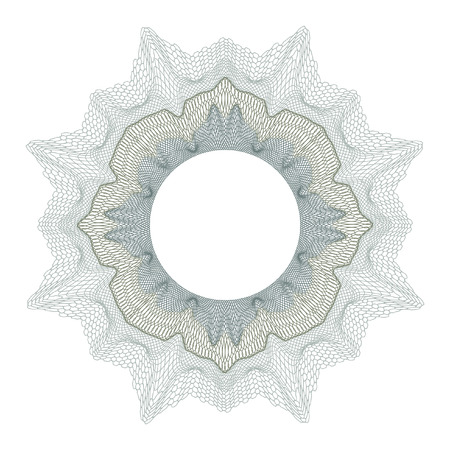 Guilloche decorative element for design certificate diploma and bank note