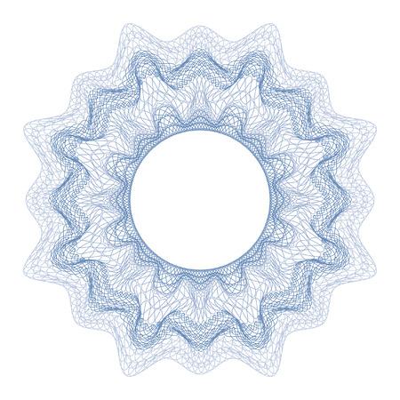 Guilloche decoratief element voor ontwerp certificaat, diploma en bankbiljet