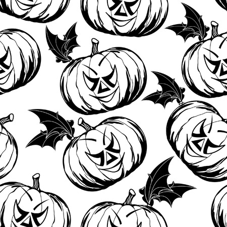 drakula: black and white seamless pattern for Halloween