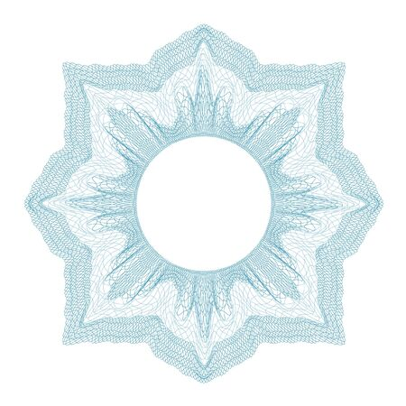 guilloche decorative element for design certificate, diploma and bank note Ilustracja