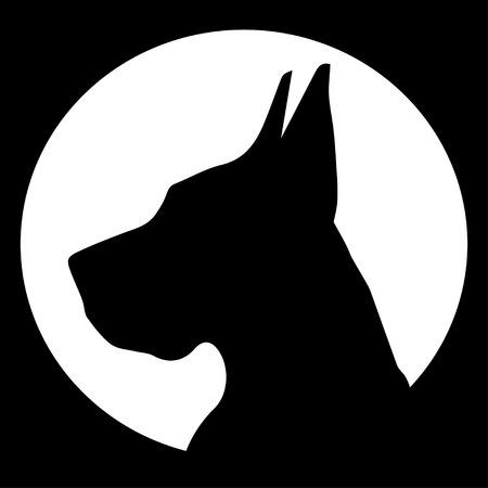 great dane: silhouette Great Dane