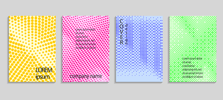 Minimalistic abstract vector halftone covers design. Future geometric template. Vector templates for placards, banners, flyers, presentations and reports Reklamní fotografie