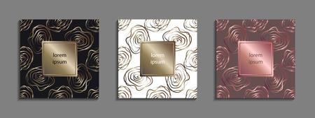 Set Luxusabdeckung Vorlagen. Standard-Bild - 90381065