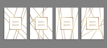 Set of luxury cover templates. Ilustração Vetorial