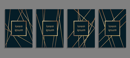 Set of luxury cover templates.