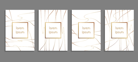Set of luxury cover templates. Vector cover design for placards, banners, flyers, presentations and cards.