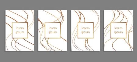 Set Luxusabdeckung Vorlagen. Vektor-Cover-Design für Plakate, Banner, Flyer, Präsentationen und Karten