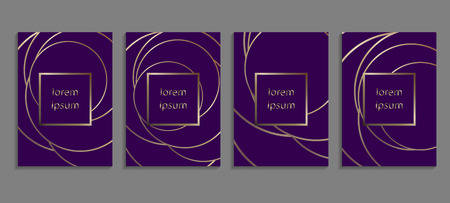 Set of luxury ultraviolet cover templates. Vector violet cover design for placards, banners, flyers, presentations and cards Ilustrace