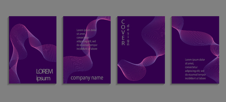 Set of luxury ultraviolet cover templates. Vector violet cover design for placards, banners, flyers, presentations and cards Ilustracja