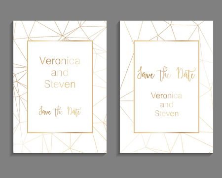 Set of luxury cover templates. Vector cover design for wedding invintation, placards, banners, flyers, presentations and business cards Stock Illustratie