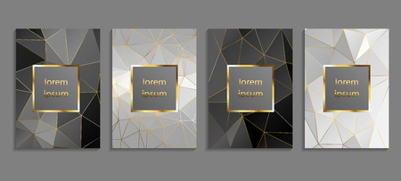 Set of luxury cover templates. Vector cover design for placards, banners, flyers, presentations and cards Standard-Bild - 97991489