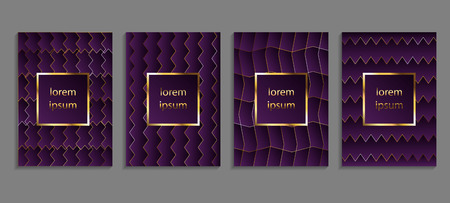 Set of luxury cover templates. Vector cover design for placards, banners, flyers, presentations and cards Illustration