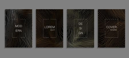 Set luxe cover sjablonen. Vector cover ontwerp voor borden, banners, flyers, presentaties en kaarten Vector Illustratie