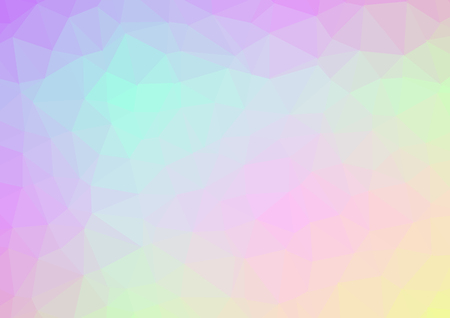 Abstract low poly geometric background. Polygonal crystal effect vector. Futuristic textures. Vectores
