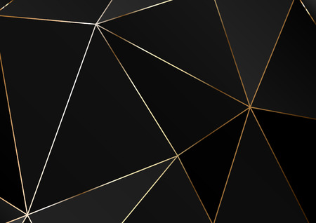 Gold polygonal texture. Vector cover design for wedding invintation, placards, banners, flyers, presentations and business cards