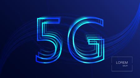 5G technology background. Digital data background. New generation mobile networks. Illustration