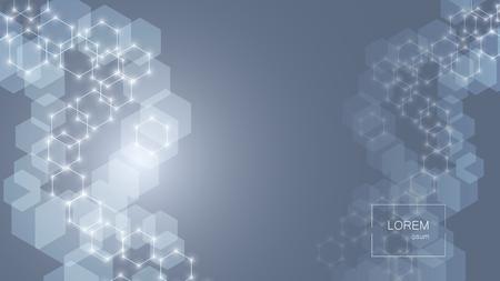 Abstract hexagonal background. Technology design. Vector illustration Ilustração Vetorial